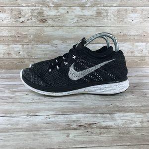 Nike Shoes - Nike Lunar Flyknit 3  Womens 9 Black White Oreo